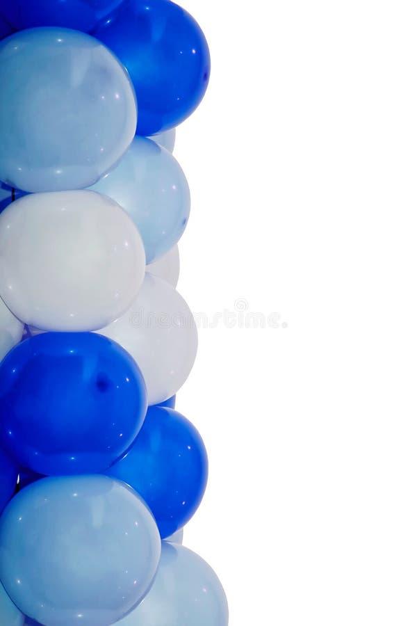Geïsoleerde blauwe en witte ballons royalty-vrije stock fotografie