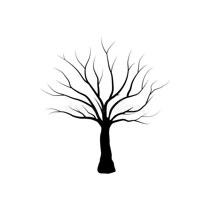 Geïsoleerde boom - Vector vector illustratie