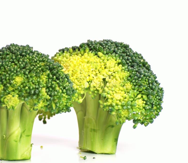 Geïsoleerde broccoli stock foto's