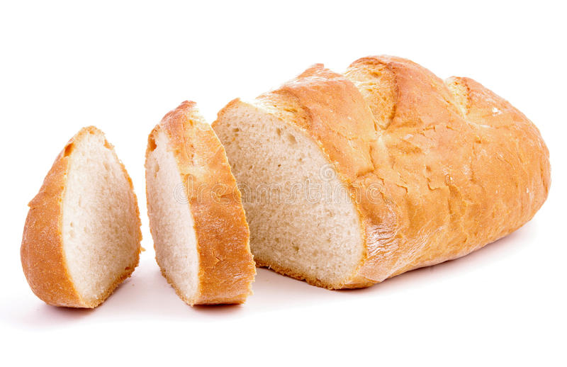 Geïsoleerde brood royalty-vrije stock foto's