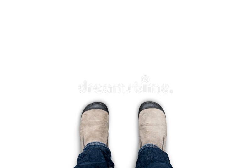 Geïsoleerde bruine schoenen op witte achtergrond stock afbeeldingen