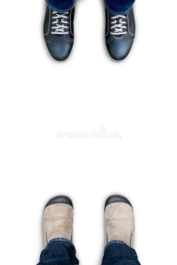 Geïsoleerde bruine schoenen op witte achtergrond stock foto