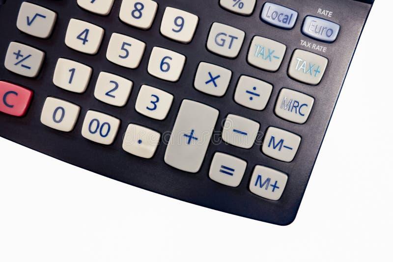 Geïsoleerde calculator witte achtergrond stock afbeelding