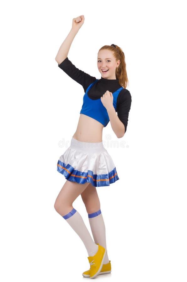 Geïsoleerde Cheerleader royalty-vrije stock foto
