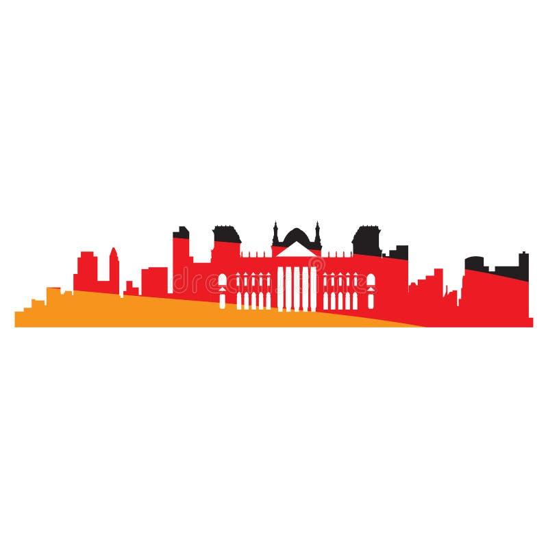 Geïsoleerde cityscape van Berlijn royalty-vrije illustratie
