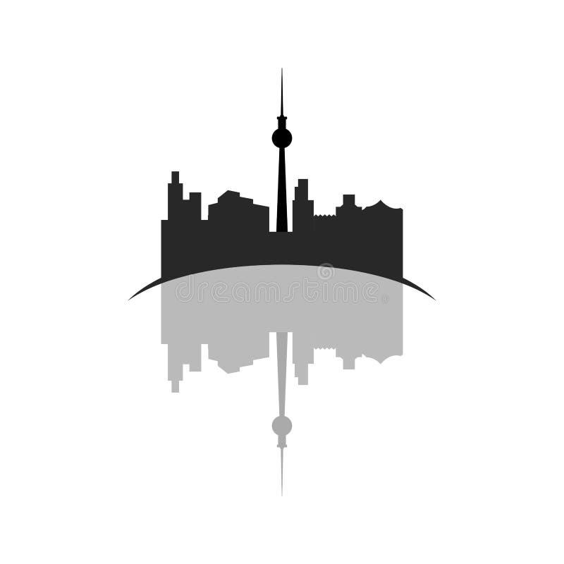 Geïsoleerde cityscape van Toronto stock illustratie