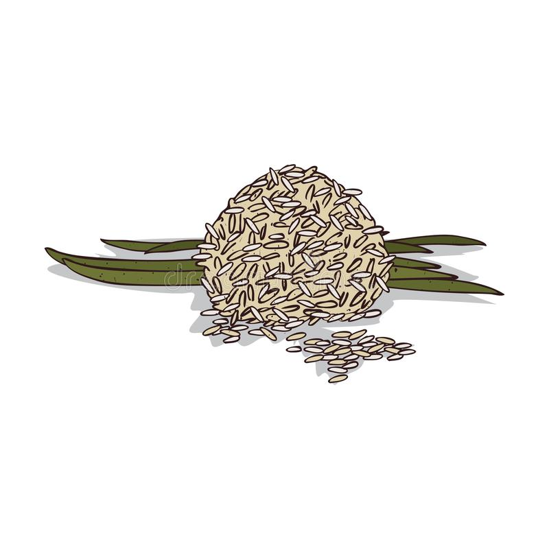 Geïsoleerde clipart rijst stock illustratie
