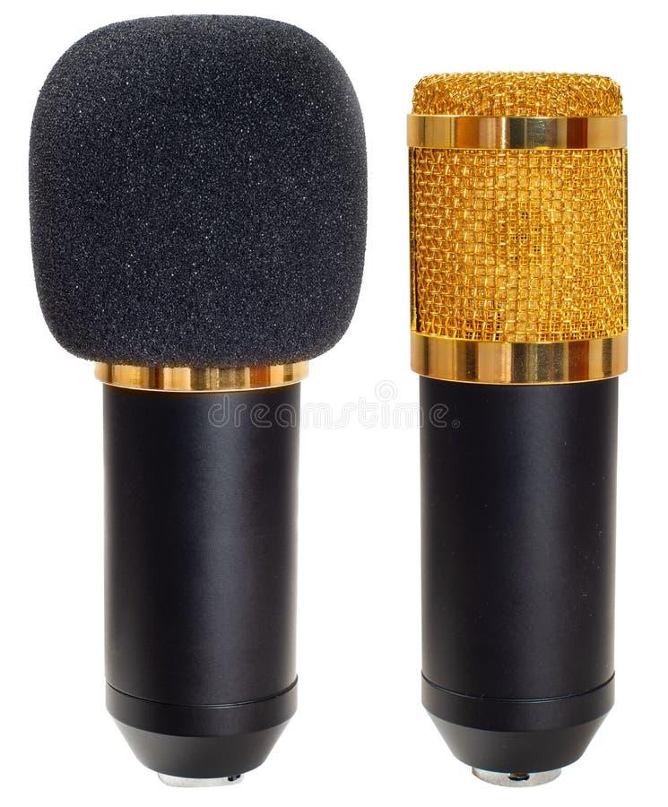 Geïsoleerde Condensatormicrofoon royalty-vrije stock foto