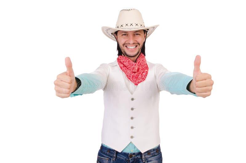 Geïsoleerde cowboy royalty-vrije stock fotografie