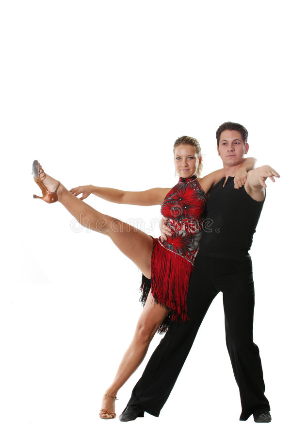 GeïsoleerdE dansend paar royalty-vrije stock afbeelding