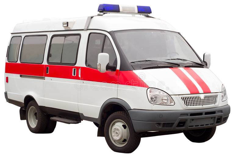 Geïsoleerde de auto van de ziekenwagen royalty-vrije stock foto's