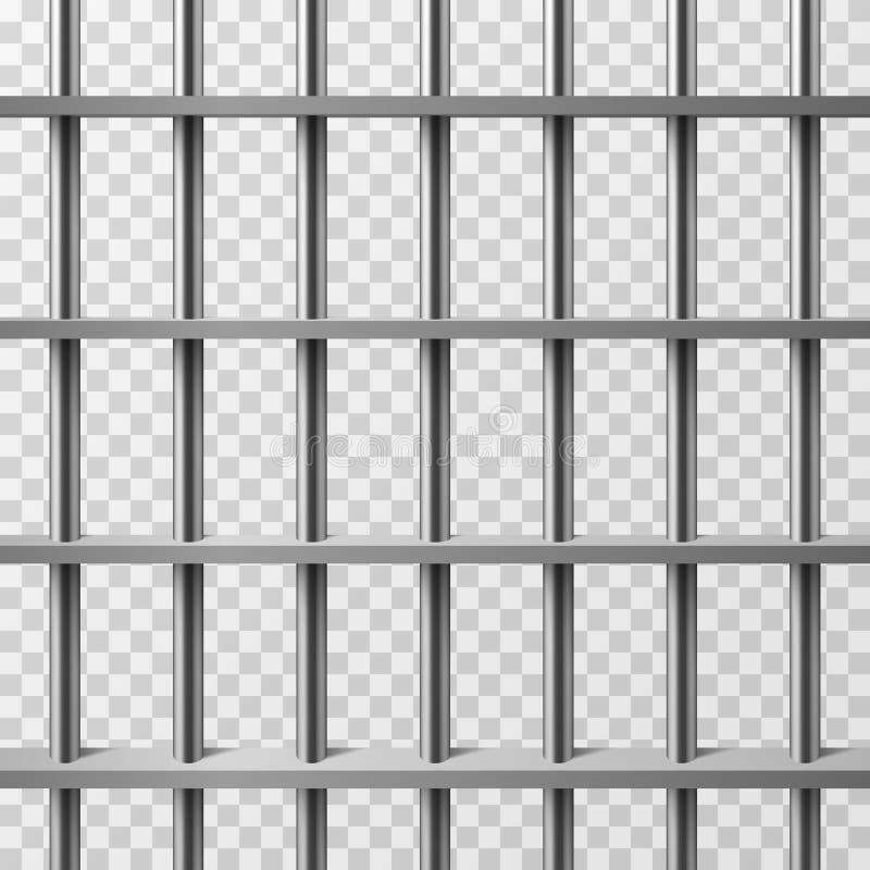 Geïsoleerde de bars van de gevangeniscel Gevangenis vectorachtergrond vector illustratie