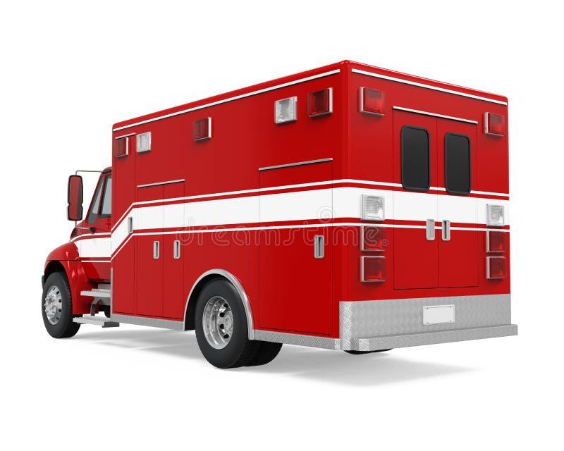 Geïsoleerde de Brandvrachtwagen van de ziekenwagennoodsituatie royalty-vrije illustratie