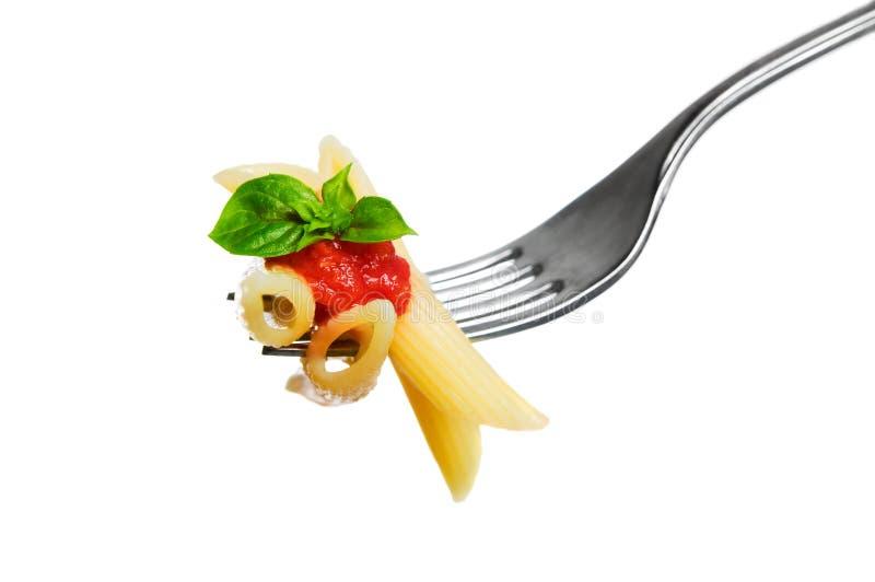Geïsoleerde de deegwaren van de macaroni stock fotografie