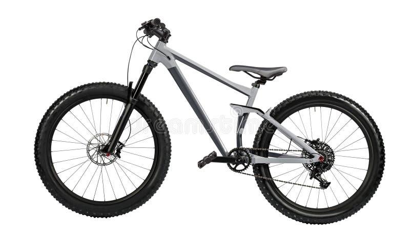 Geïsoleerde de fiets van de berg stock foto