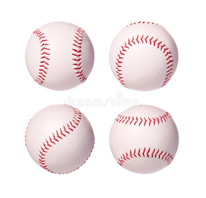 Geïsoleerde de Inzameling van honkbalballen royalty-vrije stock foto
