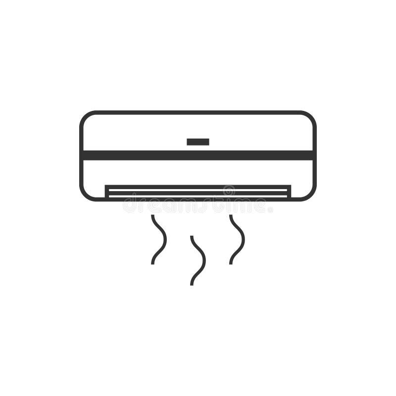 Geïsoleerde de ontwerpsjabloonvector van het airconditionerpictogram royalty-vrije illustratie