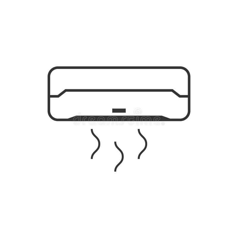 Geïsoleerde de ontwerpsjabloonvector van het airconditionerpictogram vector illustratie