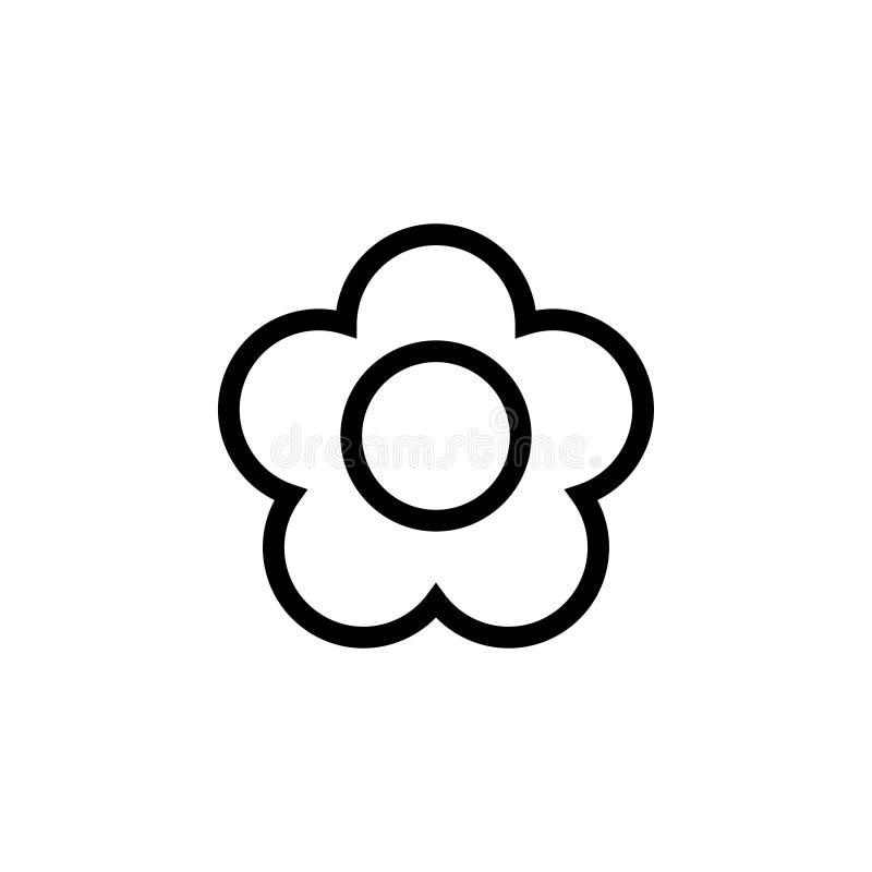 Geïsoleerde de ontwerpsjabloonvector van het bloempictogram royalty-vrije stock afbeelding