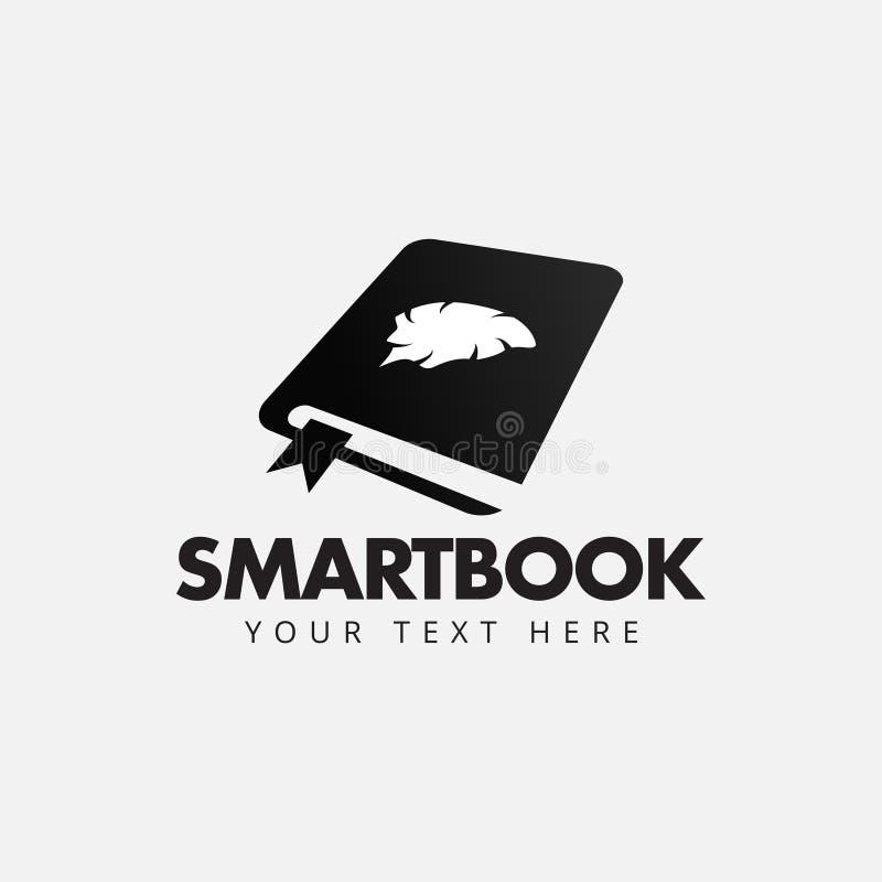 Geïsoleerde de ontwerpsjabloonvector van het Smartbookembleem stock illustratie