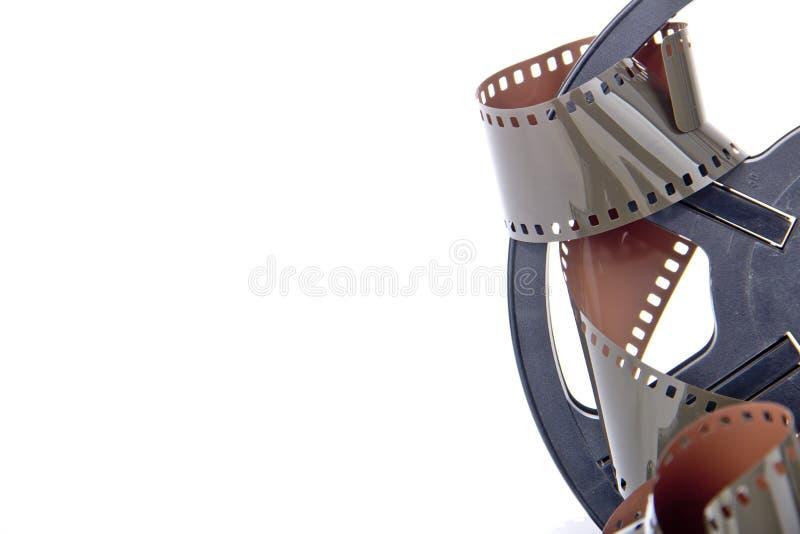 Geïsoleerde de spoel van het filmbroodje stock fotografie