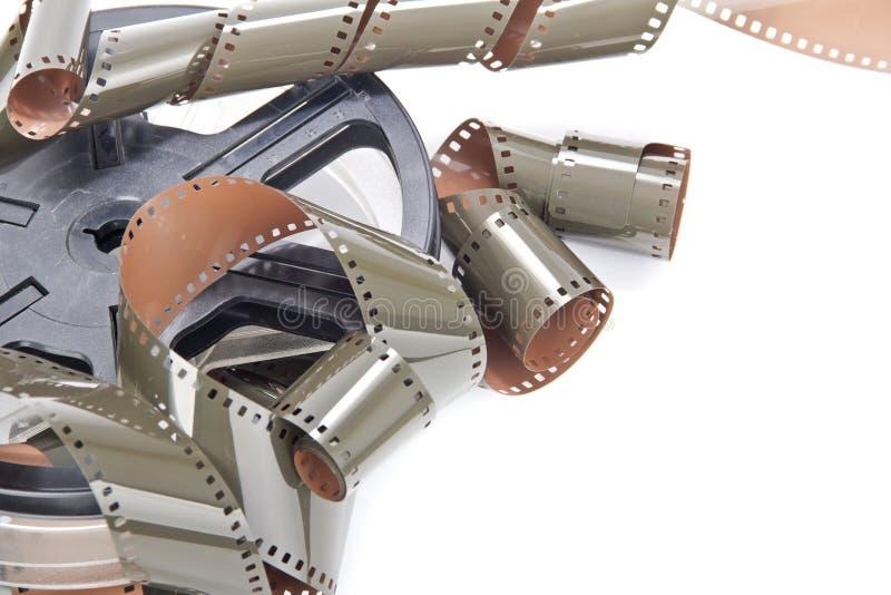 Geïsoleerde de spoel van het filmbroodje stock afbeelding