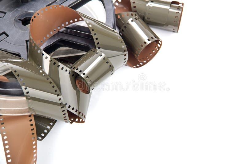Geïsoleerde de spoel van het filmbroodje royalty-vrije stock afbeeldingen