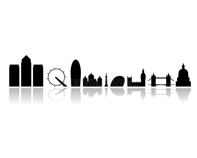 Geïsoleerde de stadsoriëntatiepunten van Londen