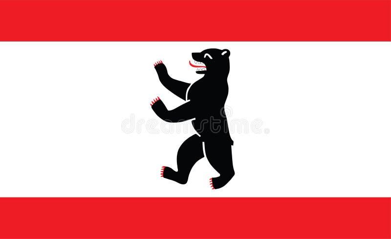 Geïsoleerde de stadsvlag van Berlijn royalty-vrije illustratie