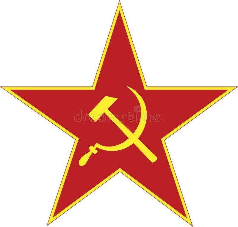 Geïsoleerde de ster van de USSR stock foto's