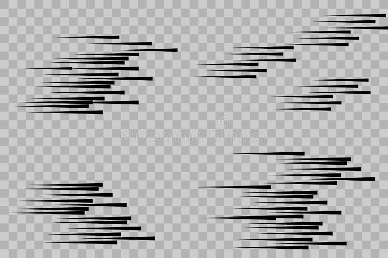 Geïsoleerde de tekens van snelheidslijnen vector illustratie