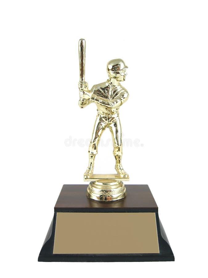 Geïsoleerde de trofee van het honkbal. stock foto's