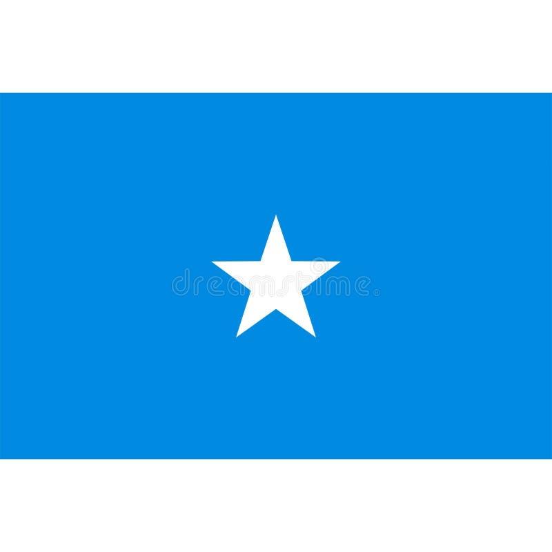 Geïsoleerde de vlagvector van Somalië vector illustratie