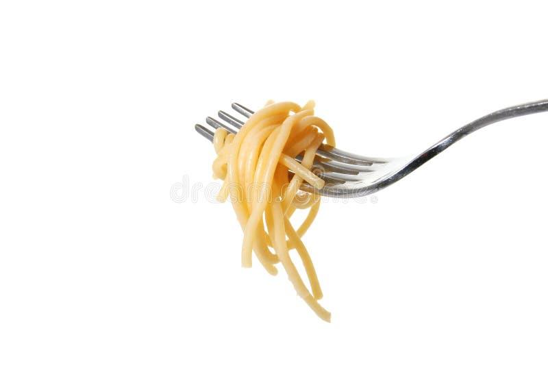 Geïsoleerde$ de vork van deegwaren royalty-vrije stock foto