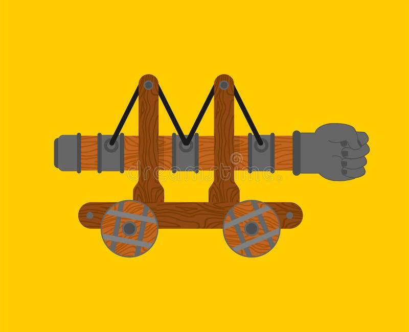 Geïsoleerde de vuist van het stormramijzer Muur Opgezette hulpmiddelmachine royalty-vrije illustratie