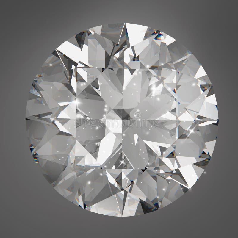 Geïsoleerde diamanten royalty-vrije illustratie