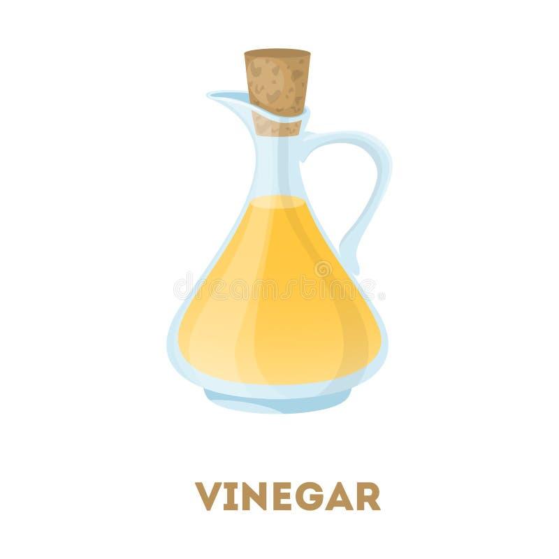 Geïsoleerde fles azijn vector illustratie