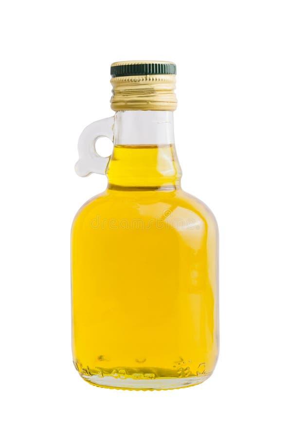 Geïsoleerde fles de olie van rijstzemelen royalty-vrije stock afbeelding