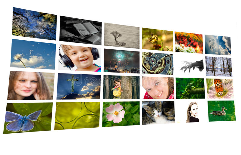 Geïsoleerde foto-collage stock foto