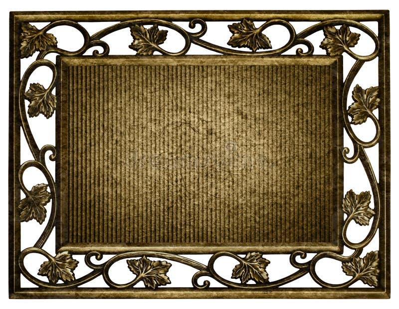 Geïsoleerde frame van roestig stock foto