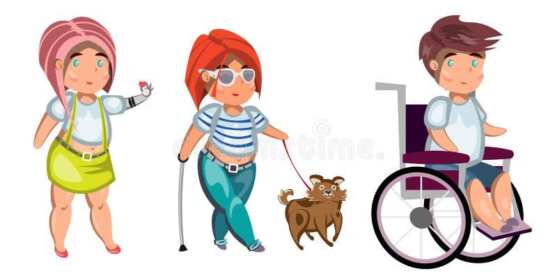 Geïsoleerde gehandicapten vector illustratie