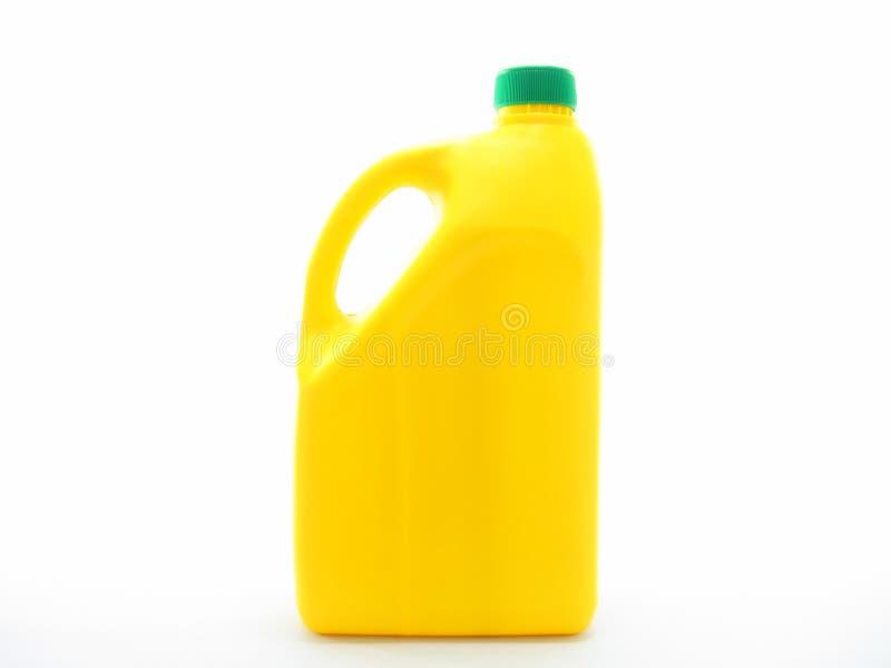 Geïsoleerde gele gallon stock foto