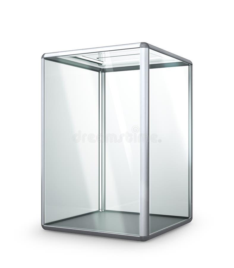 Geïsoleerde glas transparante stembus royalty-vrije stock foto's