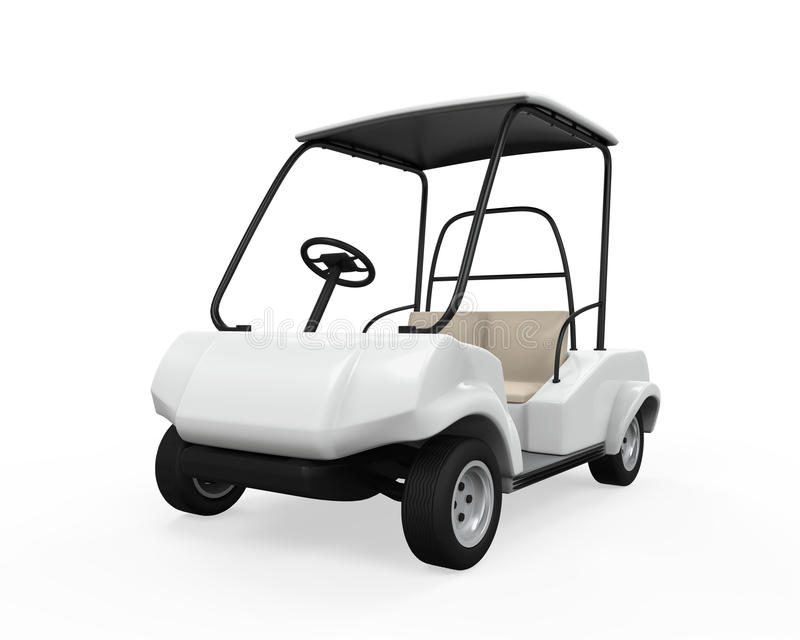 Geïsoleerde golfauto royalty-vrije illustratie