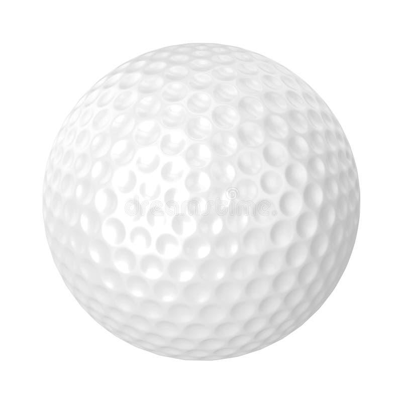 Geïsoleerde golfbal royalty-vrije illustratie