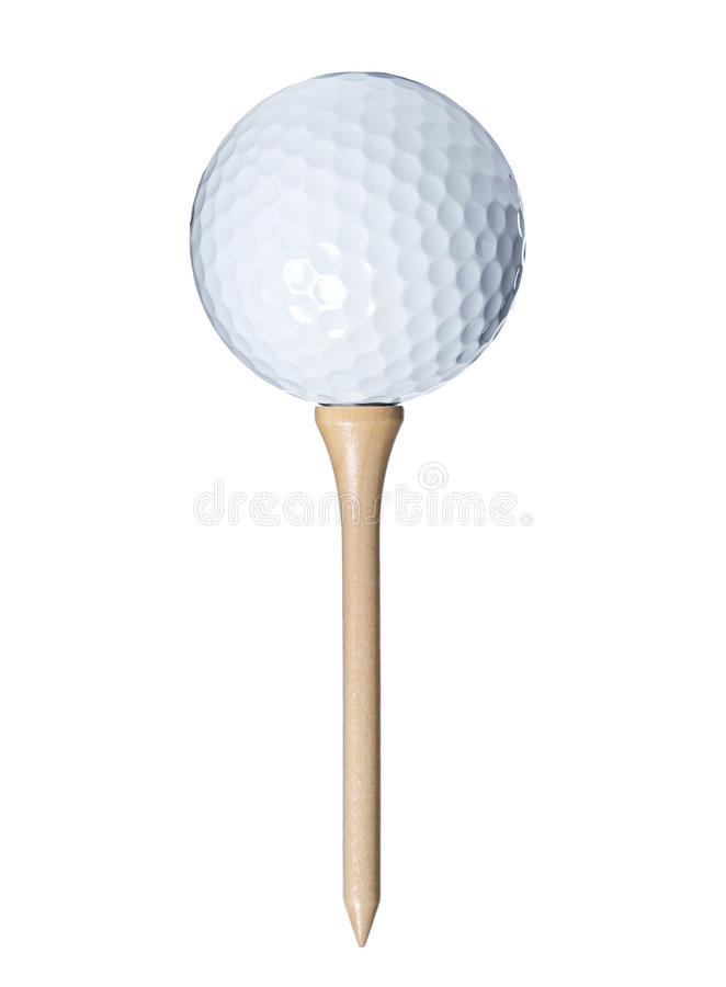 Geïsoleerde golfbal stock fotografie