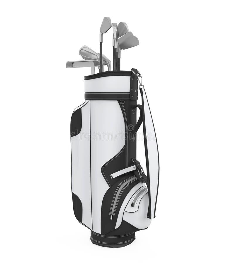 Geïsoleerde golfclubzak vector illustratie