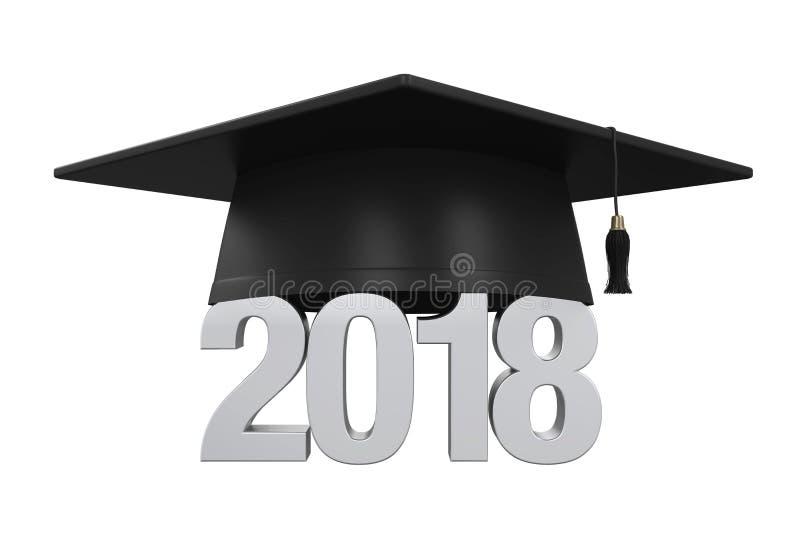 2018 Geïsoleerde Graduatie GLB stock illustratie