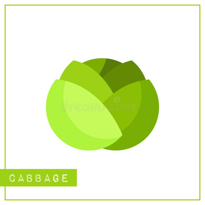 Geïsoleerde groene koolgeheugen opleidingskaart vector illustratie