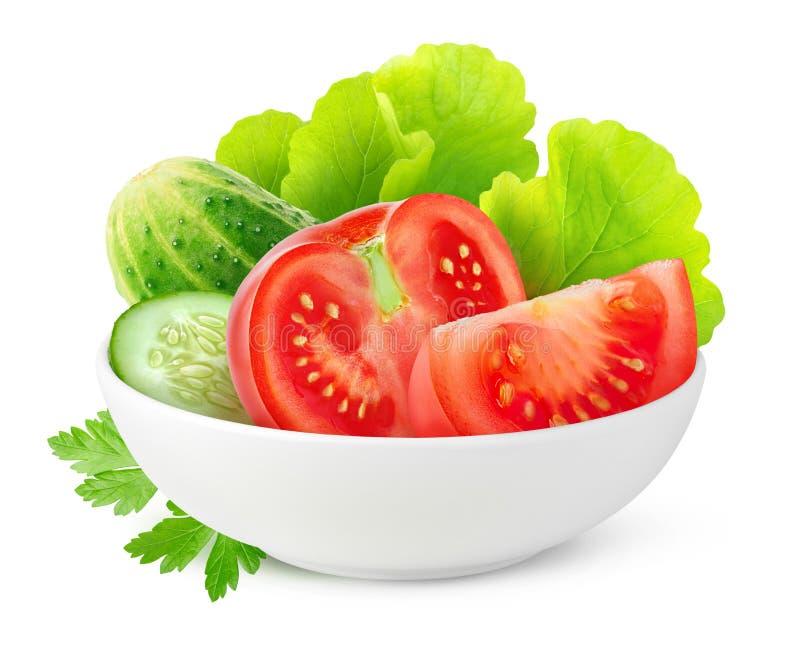 Geïsoleerde groenten in een kom royalty-vrije stock afbeelding